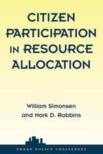 Citizen Participation and Resource Allocation - William J. Simonsen