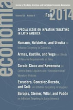 Econmia: Fall 2014 : Journal of the Latin American and Caribbean Economic Association