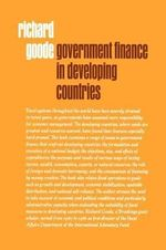 Government Finance in Developing Countries - Richard Goode