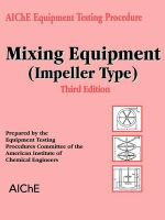 Mixing Equipment (Impeller Type) - American Institute of Chemical Engineers