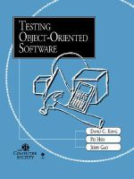 Testing Object-Oriented Software : Practitioners - David C. Kung