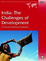 India : The Challenges of Development - A Country Assistance Evaluation - Gianni Zanini