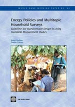 Energy Policies and Multitopic Household Surveys : Guidelines for Questionnaire Design in Living Standards Measurement Studies - Kyran O'Sullivan