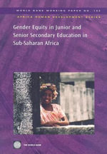 Gender Equity in Junior and Senior Secondary Education in Sub-Saharan Africa - World Bank
