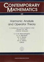 Harmonic Analysis and Operator Theory : Proceedings: Conference in Honor of Mischa Cotlar (1994: Caracas, Venezuela)
