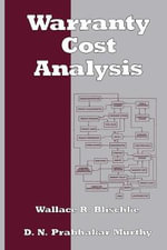 Warranty Cost Analysis : Property Investment and Development - Wallace R. Blischke