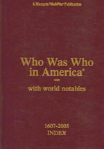 Who Was Who in America Volume XVI - Marquis Whos Who