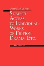 Guidelines on Subject Access to Individual Works of Fiction - American Library Association