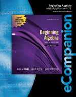 Ecompanion for Aufmann/Lockwood's Beginning Algebra : Introductory and Intermediate: An Applied Approach - Joanne S. Lockwood