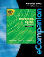 Ecompanion for Aufmann/Lockwood's Intermediate Algebra : With Applications - Joanne S. Lockwood