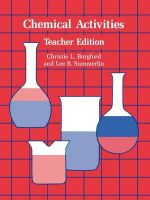 Chemical Activities : Teacher's edition - Christie L. Borgford