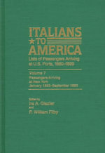 Italians to America, Jan. 1893-Sept. 1893 : Lists of Passengers Arriving at U.S. Ports