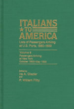 Italians to America, Oct. 1893-May 1895 : Lists of Passengers Arriving at U.S. Ports
