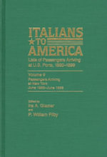 Italians to America, June 1895-June 1896 : Lists of Passengers Arriving at U.S. Ports