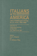 Italians to America, July 1896-June 1897 : Lists of Passengers Arriving at U.S. Ports