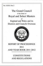 Royal and Select Masters Report of Proceedings and Yearbook