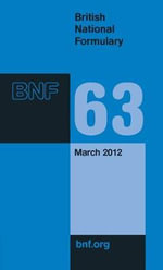 British National Formulary (BNF) March 2012 : March 2012 Issue. - British Medical Association
