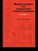 Supervision of Concrete Construction : v.1 - John George Richardson