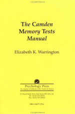 The Camden Memory Tests Manual : Test Manual - Elizabeth K. Warrington