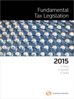 Fundamental Tax Legislation 2015
