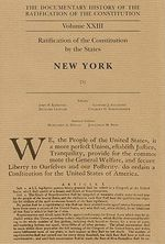Documentary History of the Ratification of the Constitution, Volume XXIII : Ratification of the Constitution by the States: New York, No. 5 - John P Kaminski