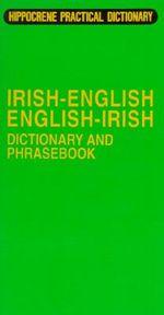 Irish Dictionary and Phrasebook : Irish-English/English-Irish - Davidovic Mladen