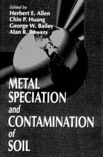 Metal Specification and Contamination of Soil : Concepts and Applications - Herbert E. Allen
