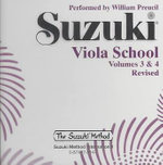 Suzuki Viola School, Vol 3 & 4 : Suzuki Method Core Materials - William Preucil
