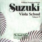 Suzuki Viola School, Volume 5 : Suzuki Method - William Preucil