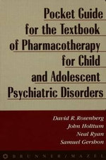 Pocket Guide for Textbook of Pharmocotherapy : Pocket Guide - David R. Rosenberg