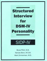 Structured Interview for DSM-IV Personality (SIDP-IV) : Package of 5 - Bruce Pfohl