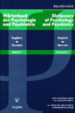 Dictionary of Psychology and Psychiatry : English-German