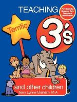 Teaching Terrific Threes : And Other Toddlers - Nancy Clark