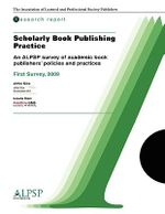 Scholarly Book Publishing Practice : Research Report - John Cox