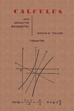 Calculus with Analytic Geometry by Angus E. Taylor Vol. 1 :  Q-Curvature and Conformal Holonomy - Angus E. Taylor
