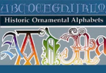 Historical Ornamental Alphabet - F. Delamotte