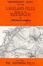 Wainwright Maps of the Lakeland Fells : Southern Fells Map 4 - Alfred Wainwright