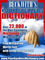 Beckwith's Poor Spellers Dictionary - Rod, G Beckwith