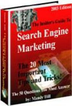 The Insider's Guide to Search Engine Marketing - Mandy Hill