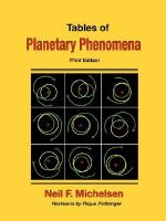 Tables of Planetary Phenomena - Neil F. Michelsen
