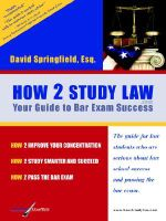 How 2 Study Law - David Springfield