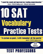 10 SAT Vocabulary Practice Tests - Paul G Simpson, IV