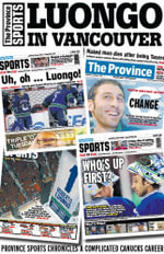 Luongo in Vancouver : Province Sports chronicles the complicated Canucks career - Province Sports