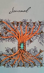 Cat Serpent Tree - 500-Page Lined Notebook, Journal - The Journal Company