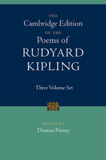 The Cambridge Edition of the Poems of Rudyard Kipling : 3 Volume Set - Rudyard Kipling
