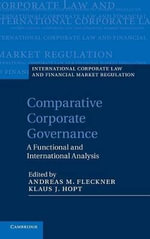 Comparative Corporate Governance : A Functional and International Analysis