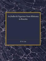 Reading University Studies : Aryballoi and Figurines from Rhitsona in Boeotia - Percy Neville Ure