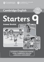 Cambridge English Young Learners 9 Starters Answer Booklet : Authentic Examination Papers from Cambridge English Language Assessment - Cambridge Eng Lang Assessment