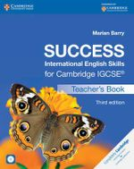 Success International English Skills for Cambridge IGCSE Teacher's Book with Audio CD : Cambridge International Examinations - Marian Barry