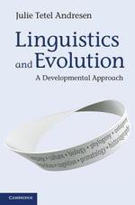 Linguistics and Evolution - Julie Tetel Andresen